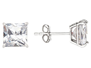 Bella Luce ® 2.00ctw Princess Cut 10k White Gold Stud Earrings