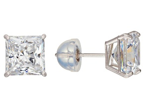 Bella Luce ® 3.00ctw Princess Cut 10k White Gold Stud Earrings