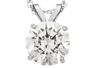 Bella Luce ® 1.00ct Round 10k White Gold Pendant With 18
