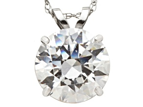 Bella Luce ® 2.00ct Round 10k White Gold Pendant With 18