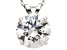 Bella Luce ® 2.00ct Round White Cubic Zirconia 10k White Gold Pendant With 18