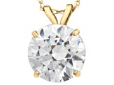 Bella Luce ® 2.00ct Round White Cubic Zirconia 10k Yellow Gold Pendant With 18