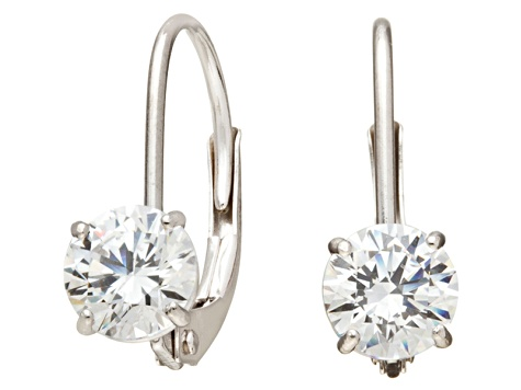 Bella Luce ® 1.00ctw Round 10k White Gold Earrings