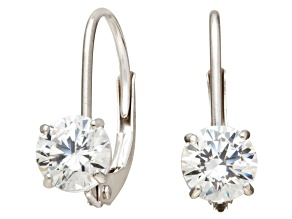 Bella Luce ® 1.00ctw Round White Cubic Zirconia 10k White Gold Earrings