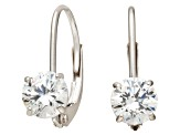 Bella Luce ® 1.00ctw Round Diamond Simulant 10k White Gold Earrings