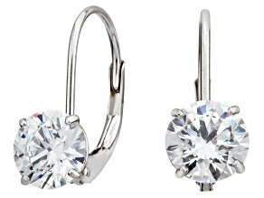 Bella Luce ® 2.00ctw Round White Cubic Zirconia 10k White Gold Earrings