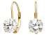 Bella Luce ® 2.00ctw Round White Cubic Zirconia 10k Yellow Gold Earrings