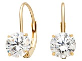 Bella Luce ® 2.00ctw Round 10k Yellow Gold Earrings