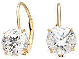 Bella Luce ® 3.00ctw White Cubic Zirconia Round 10k Yellow Gold Earrings