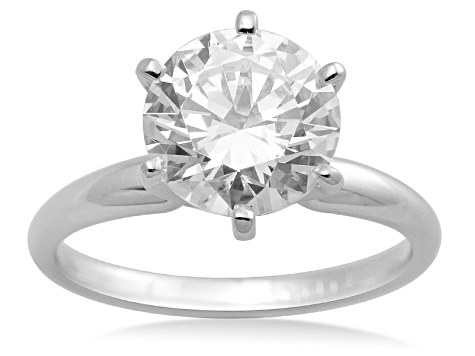 Bella Luce ® 2.00ctw Round White Cubic Zirconia 10k White Gold Ring