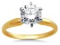 Bella Luce ® 2.00ctw Round White Cubic Zirconia 10k Yellow And White Gold Ring