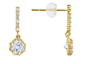 Bella Luce ® 0.97ctw Round White Cubic Zirconia 14k Yellow Gold Earrings