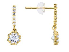 Bella Luce ® 0.97ctw Round White Cubic Zirconia 14k Yellow Gold Earrings