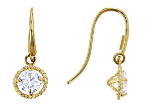 Bella Luce ® .72ctw Round White 14k Yellow Gold Dangle Earrings