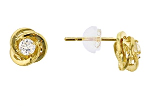 Bella Luce ® .36ctw Round White Cubic Zirconia 14k Yellow Gold Earrings