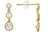 Bella Luce ® .90ctw Round White Cubic Zirconia 14k Yellow Gold Earrings