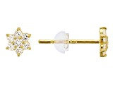 Bella Luce ® .29ctw Round White Cubic Zirconia 14k Yellow Gold Earrings