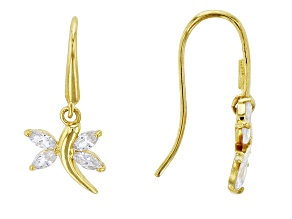 Bella Luce ® .88ctw Marquise White Cubic Zirconia 14k Gold Dragonfly Earrings