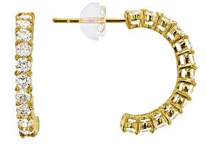 Bella Luce ® 1.56ctw Round White Cubic Zirconia 14k Yellow Gold Earrings