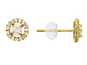 Bella Luce ® .63ctw Round White Cubic Zirconia 14k Yellow Gold Earrings