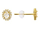 Bella Luce ® .96ctw Oval White Cubic Zirconia 14k Yellow Gold Earrings