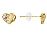 Bella Luce ® .11ctw Round White Cubic Zirconia 14k Yellow Gold Earrings