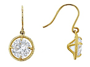 Bella Luce ® 2.86ctw Round White Cubic Zirconia 14k Gold Dangle Earrings