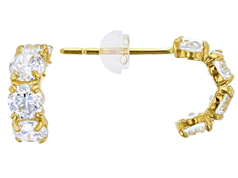 Bella Luce ® 1.44ctw Round White Cubic Zirconia 14k Yellow Gold Earrings