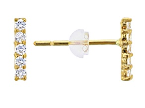 Bella Luce ® .13ctw Round White Cubic Zirconia 14k Yellow Gold Earrings