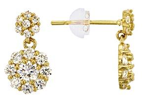 Bella Luce ® 1.12ctw Round White Cubic Zirconia 14k Yellow Gold Earrings