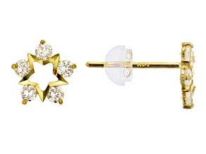 Bella Luce ® .37ctw White Cubic Zirconia 14k Yellow Gold Earrings
