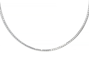 """Stainless Steel Omega 18"""" Necklace"""