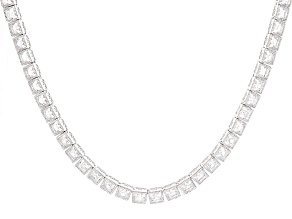 White Cubic Zirconia Platineve Necklace 43.29ctw
