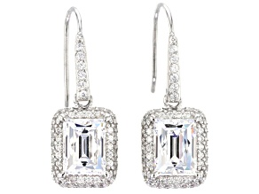 White Cubic Zirconia Platineve Earrings 6.61ctw