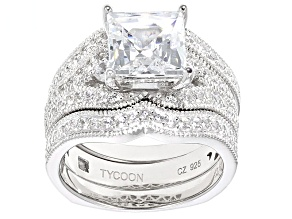 White Cubic Zirconia Platineve Ring 5.69ctw