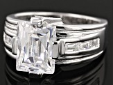 White Cubic Zirconia Platineve Ring 7.20ctw