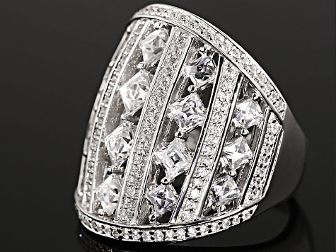 White Cubic Zirconia Platineve Ring 4.65ctw