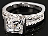 White Cubic Zirconia Platineve Ring 5.22ctw