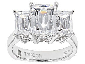 White Cubic Zirconia Platineve Ring 7.67ctw