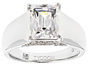 White Cubic Zirconia Platineve Ring 4.59ctw