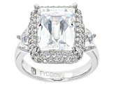 White Cubic Zirconia Platineve Ring 11.27ctw