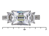 White Cubic Zirconia Platineve Ring 5.77ctw.