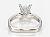 White Cubic Zirconia Platineve Ring 3.47ctw