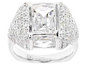 White Cubic Zirconia Platineve Ring 9.98ctw