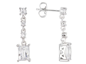 Cubic Zirconia Platineve Earrings 3.61ctw
