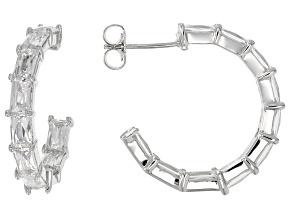 Cubic Zirconia Platineve Hoop Earrings 9.80ctw