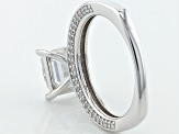 White Cubic Zirconia Platineve Ring 4.96ctw