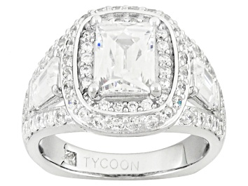 Picture of White Cubic Zirconia Platineve Ring 5.24ctw
