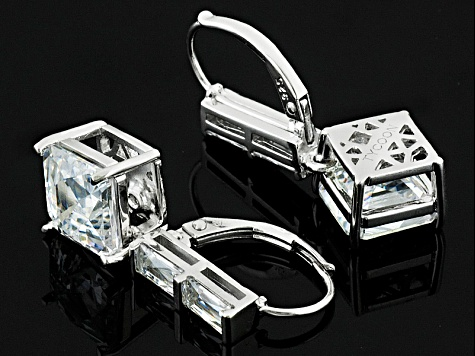 White Cubic Zirconia Platineve Earrings 11.01ctw