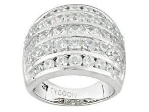 White Cubic Zirconia Platineve Ring 6.18ctw